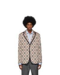Blazer en tricot beige Gucci