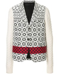 Blazer en tricot blanc Haider Ackermann