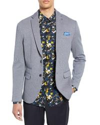 Blazer en tricot bleu clair