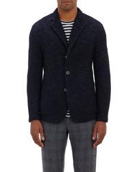 Blazer en tricot bleu marine