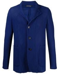 Blazer en tricot bleu marine Emporio Armani
