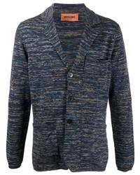 Blazer en tricot bleu marine Missoni