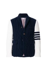 Blazer en tricot bleu marine Thom Browne