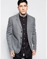 Blazer en tricot gris Minimum