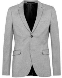 Blazer en tricot gris Topman