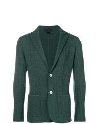 Blazer en tricot vert foncé