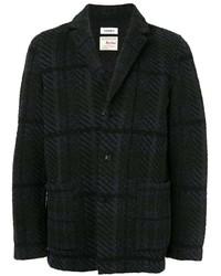 Blazer en tweed à carreaux noir Coohem