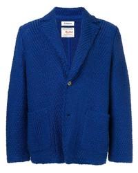Blazer en tweed à chevrons bleu Coohem