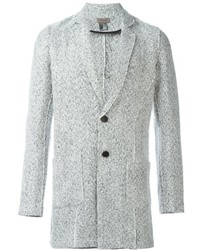 Blazer en tweed blanc Tony Cohen