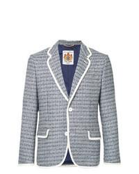 Blazer en tweed bleu clair