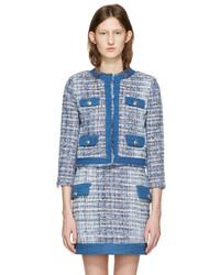 Blazer en tweed bleu clair PIERRE BALMAIN