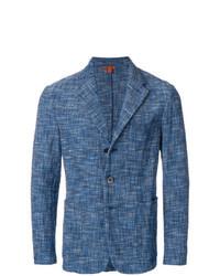 Blazer en tweed bleu