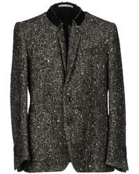 Blazer en tweed noir et blanc