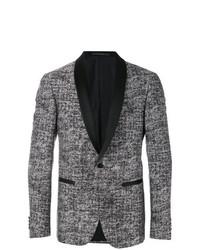 Blazer en tweed noir et blanc Pal Zileri