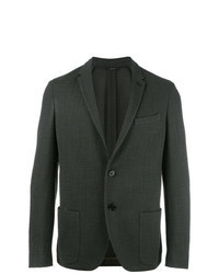 Blazer en tweed vert foncé