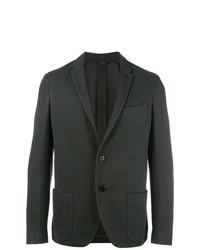 Blazer en tweed vert foncé Fendi