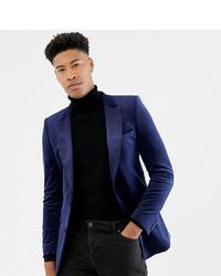 Blazer en velours bleu marine ASOS DESIGN
