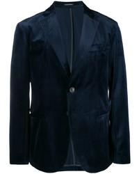 Blazer en velours bleu marine Emporio Armani