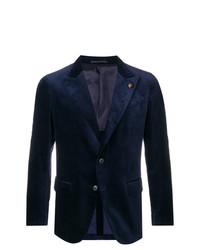 Blazer en velours bleu marine Gabriele Pasini