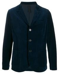Blazer en velours bleu marine Harris Wharf London
