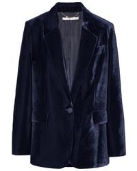 Blazer en velours bleu marine Stella McCartney