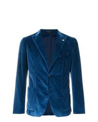 Blazer en velours bleu marine Tagliatore
