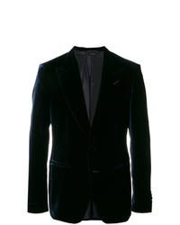 Blazer en velours bleu marine Tom Ford