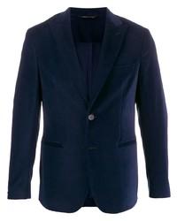 Blazer en velours bleu marine Tonello