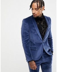 Blazer en velours bleu marine Twisted Tailor