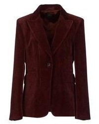 Blazer en velours bordeaux
