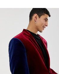 Blazer en velours bordeaux Collusion