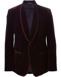 Blazer en velours bordeaux Dolce & Gabbana