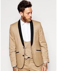 Blazer en velours brun clair