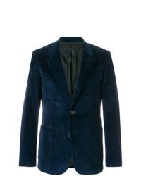 Blazer en velours côtelé bleu marine AMI Alexandre Mattiussi