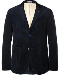 Blazer en velours côtelé bleu marine Gant