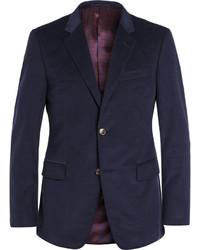 Blazer en velours côtelé bleu marine Gucci