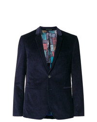 Blazer en velours côtelé bleu marine Ps By Paul Smith