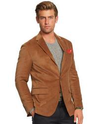 Blazer en velours côtelé brun