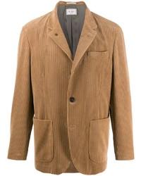 Blazer en velours côtelé marron clair Brunello Cucinelli
