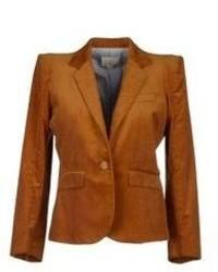 Blazer en velours côtelé marron