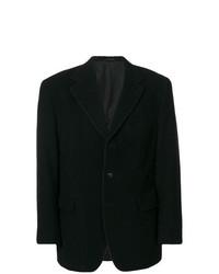 Blazer en velours côtelé noir Romeo Gigli Vintage