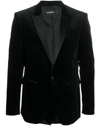 Blazer en velours noir DSQUARED2