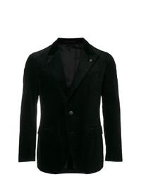 Blazer en velours noir Gabriele Pasini