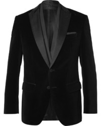Blazer en velours noir Hugo Boss