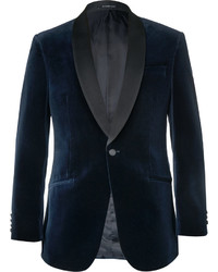 Blazer en velours noir Richard James