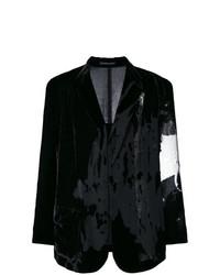 Blazer en velours noir Yohji Yamamoto