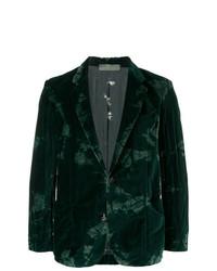 Blazer en velours vert foncé Di Liborio