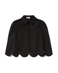 Blazer façon cape noir Valentino