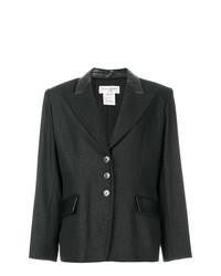 Blazer gris foncé Yves Saint Laurent Vintage