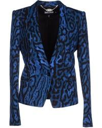 Blazer imprimé léopard bleu